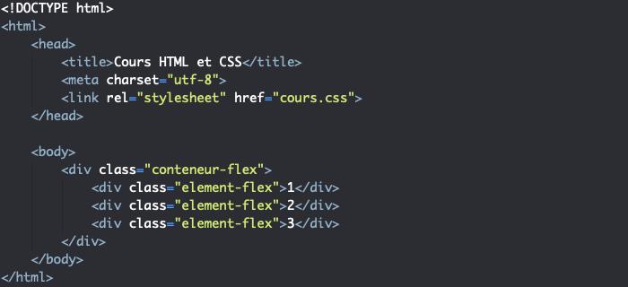 Support HTML pour exemple de responsive design