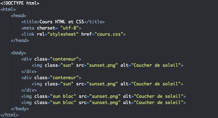 Les éléments HTML img s'affichent inline par défaut