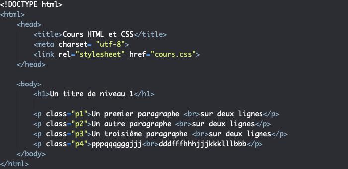 Support HTML présentation propriété CSS line-height