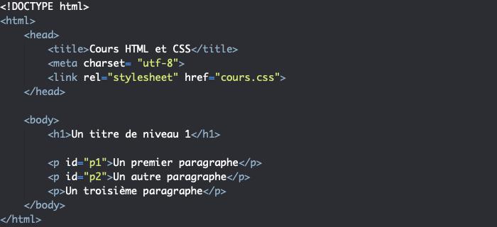 Support HTML pour exemple d'utilisation de font CSS