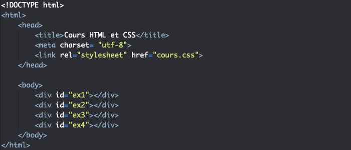 Support HTML pour création de dégradé radial en CSS avec radial-gradient
