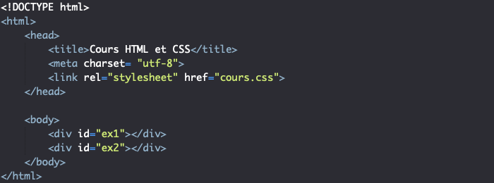 Support HTML pour création de dégradé linéaire en CSS avec repeating-linear-gradient