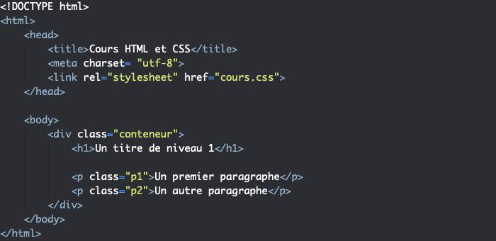 Support HTML présentation propriété CSS text-align