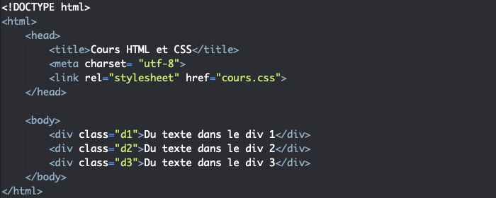 Support HTML pour exemple de création de transition en CSS