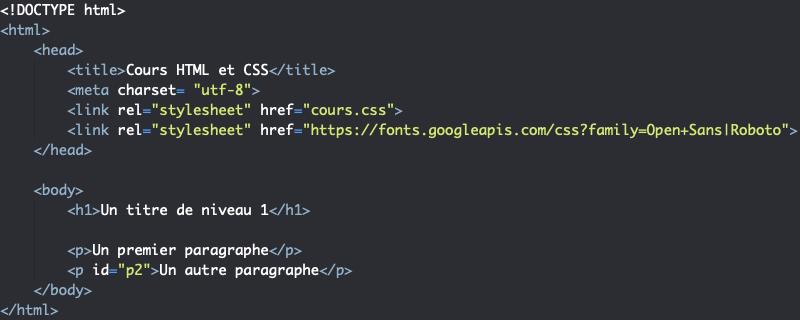 Utilisation des Google Font en HTML