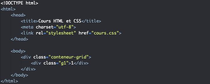 Support HTML pour création de zone de grille implicite CSS