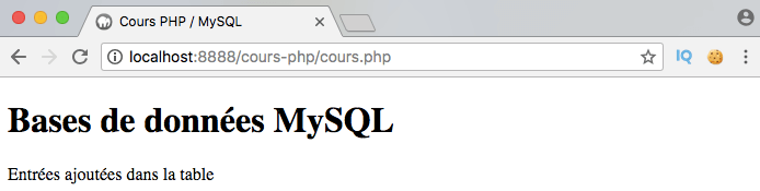 On utilise insert into plusieurs fois pour insérer plusieurs entrées dans la base de données avec PDO en PHP