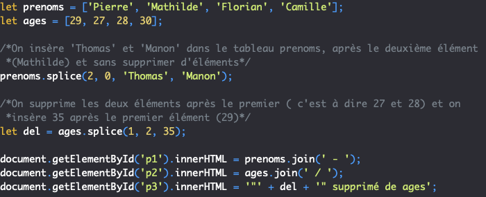 Présentation de la méthode join de l'objet JavaScript Array