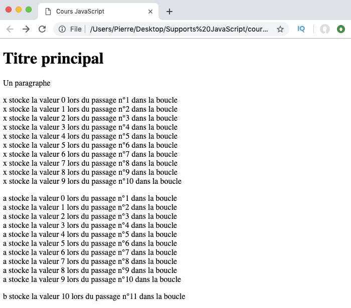 Exemple d'utilisation de la boucle do while JavaScript