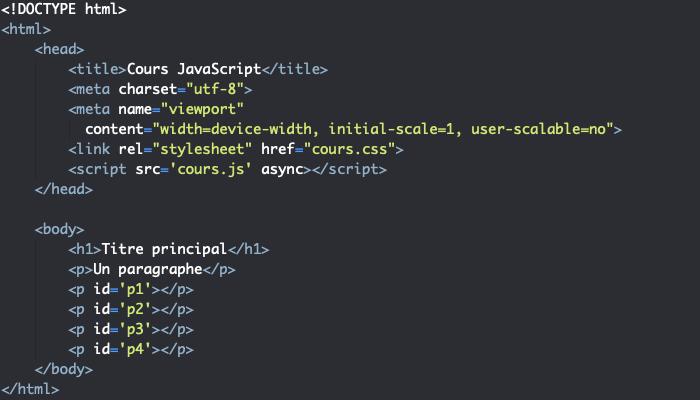 Support HTML pour exemple d'utilisation de la boucle do while JavaScript