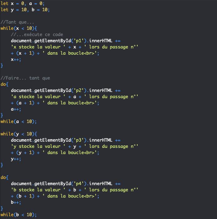 Présentation de la boucle do while JavaScript