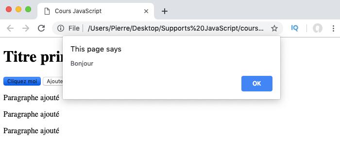 On écrit le JavaScript dans un fichier séparé js