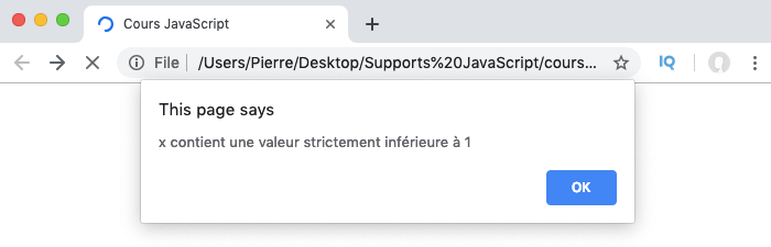 Exemple d'utilisation de la condition if else if else avec de multiples else if en JavaScript