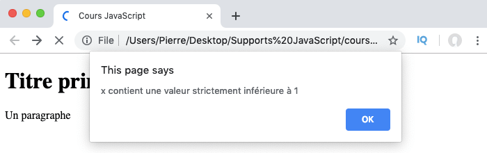 Exemple d'utilisation de la condition if else if else en JavaScript