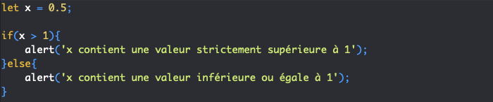 Présentation de la condition if else en JavaScript