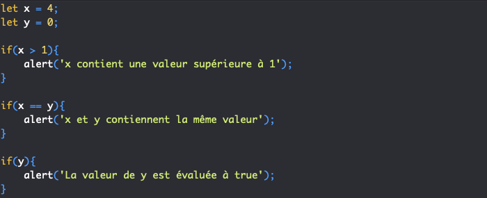 Présentation de la condition if en JavaScript