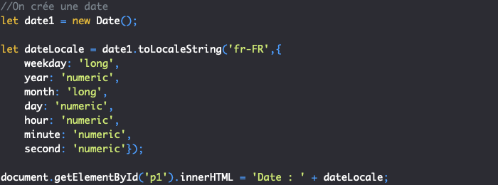 Conversion d'une date JavaScript au format local français avec tolocale