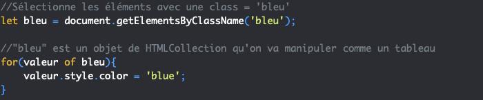 Présentation de la méthode JavaScript getElementsByClassName