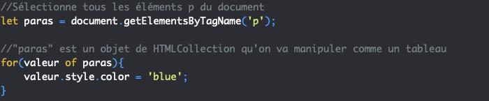 Présentation de la méthode JavaScript getElementsByTagName