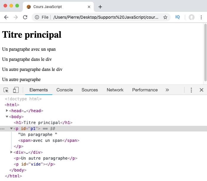 On supprime des attributs avec removeAttribute en JavaScript en utilisant le DOM