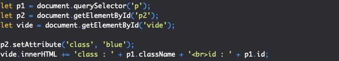 Présentation de la méthode JavaScript DOM setAttribute