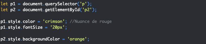 Utilisation de la propriété JavaScript style du DOM et CSSOM