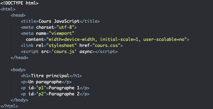 Support HTML pour exemple d'utilisation d'une fonction anonyme JavaScript comme fonction de rappel