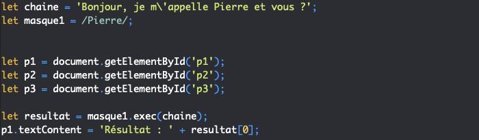 Présentation de la méthode exec de RegExp et utilisation avec les expressions régulières en JavaScript