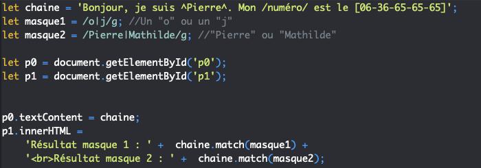 Présentation du métacaractère alternative des expressions régulières en JavaScript