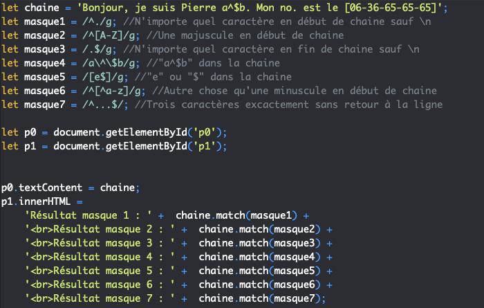 Présentation des métacaractères ancres des expressions régulières en JavaScript