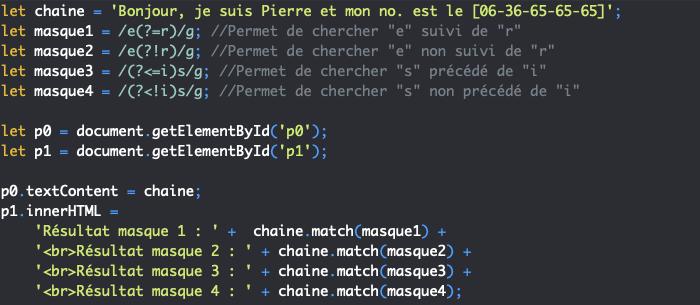 Création d'assertions dans nos expressions régulières JavaScript