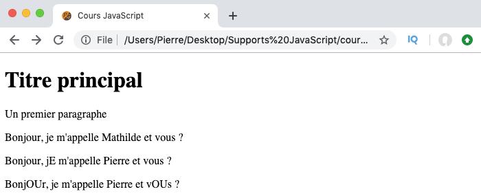 Exemple d'utilisation de la méthode replace avec les expressions régulières en JavaScript