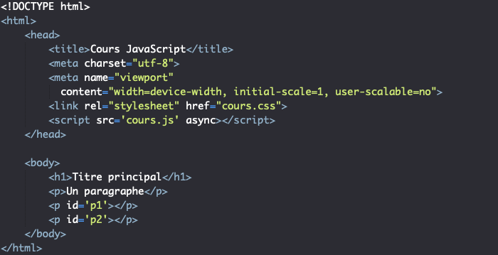 Support JavaScript pour présentation des fonctions JavaScript