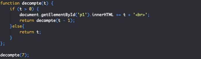 Définition de fonctions récursives en JavaScript