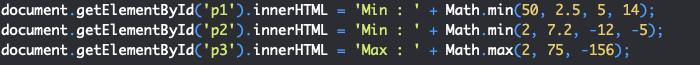 Présentation des méthodes min et max de l'objet JavaScript Math