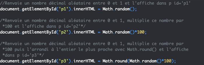 Présentation de la méthode random de l'objet JavaScript Math