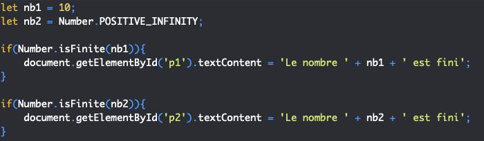 Présentation de la méthode isfinite de l'objet JavaScript Number