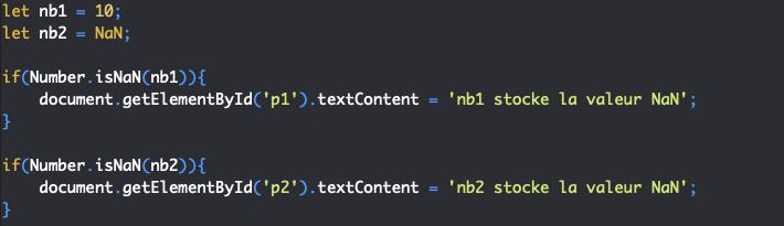 Présentation de la méthode isnan de l'objet JavaScript Number