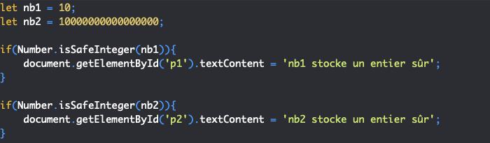 Présentation de la méthode issafeinteger de l'objet JavaScript Number
