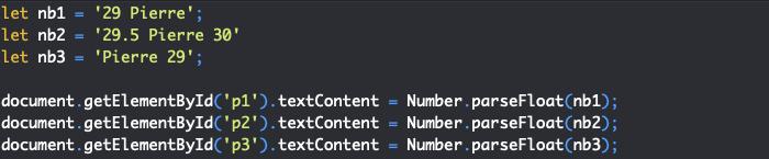 Présentation de la méthode parsefloat de l'objet JavaScript Number