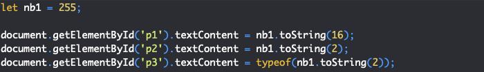 Présentation de la méthode tostring de l'objet JavaScript Number