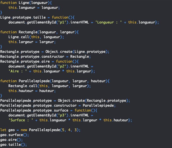 La chaines des prototype et l'héritage en orienté objet JavaScript