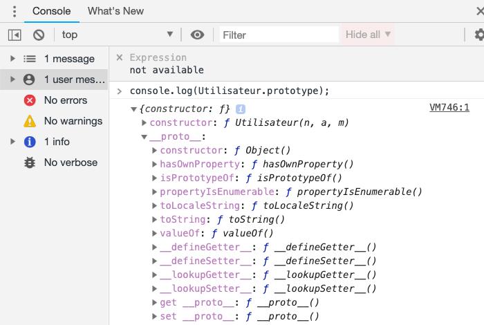 La propriété prototype d'un constructeur JavaScript
