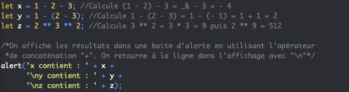 Les priorités de calcul lors de l'utilisation de plusieurs opérateurs arithmétiques en JavaScript
