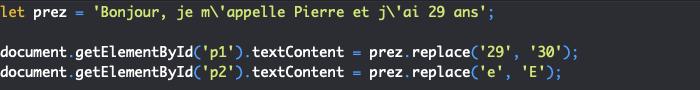 Présentation de la méthode replace de l'objet JavaScript String