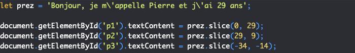 Présentation de la méthode slice de l'objet JavaScript String