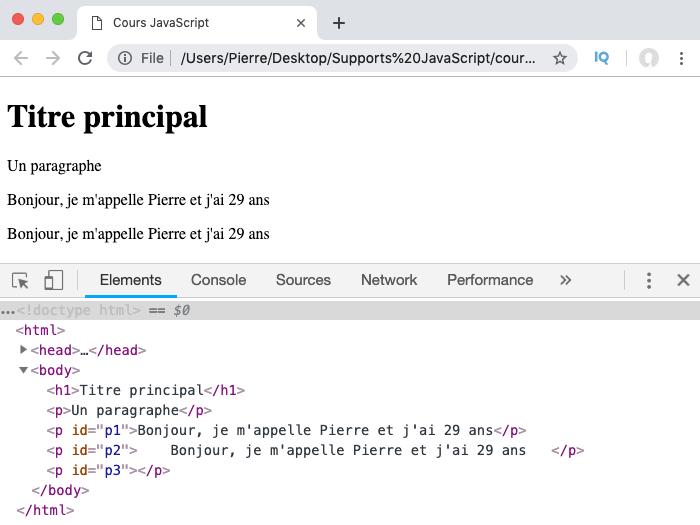 Exemple d'utilisation de la méthode trim de l'objet JavaScript String