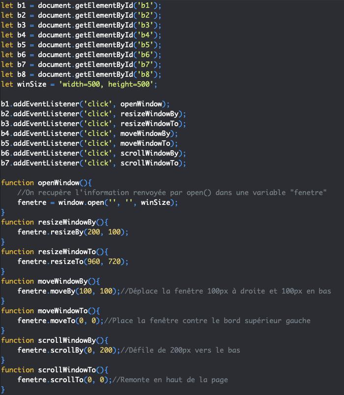 Présentation des méthodes scrollto et scrollby de l'objet JavaScript Window