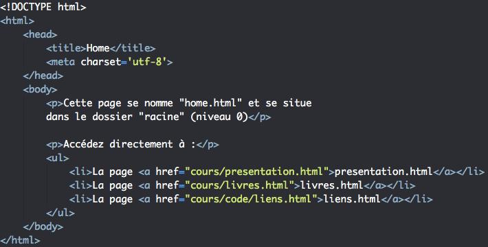 Création liens internes HTML avec l'élément a 1