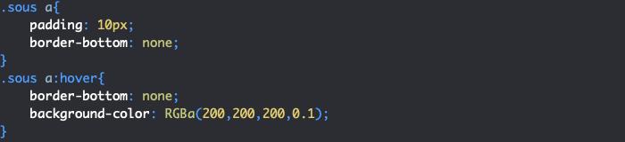 Application styles CSS sous menu menu déroulant HTML et CSS